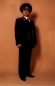 В военной форме Александр Рекута