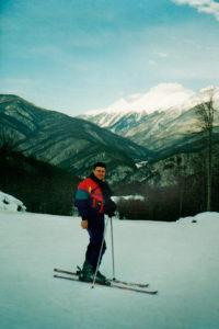 Рекута А.Л. и лыжная трасса