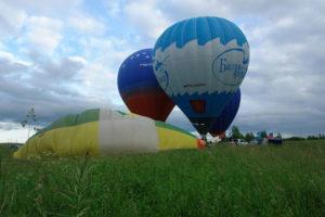 перед полётом пассажирский воздушный шар